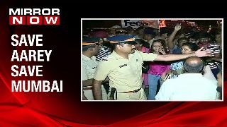 Tree cutting begins at Aarey; 35 protesters detained at Aarey
