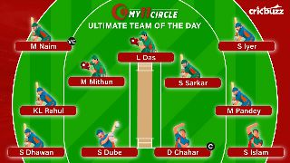 My11Circle Ultimate Team of the Day: India vs Bangladesh, 3rd T20I