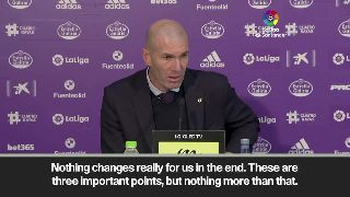 (Subtitled) 'It doesn't change anything' says Zidane as Real Madrid top La Liga