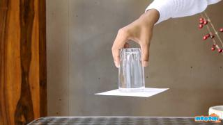 Upside Down Glass of Water Trick