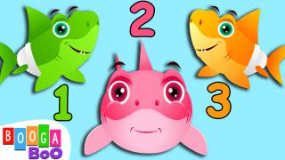 Learn Colours And Numbers With Sharks